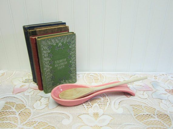 Vintage Pink Treasure Craft Spoon Rest 1950's Pink by EclecticGals