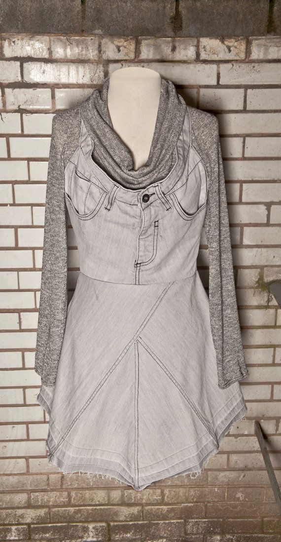 Upcycled Jeans Dress with FREE top!