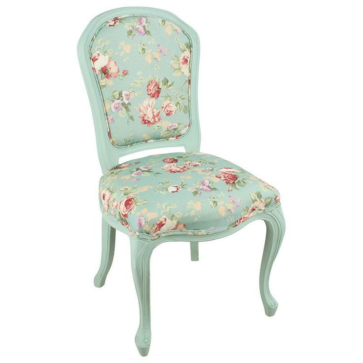 Beautiful #fabric chair with wooden legs. More floral decor ideas can be found at www.inart.com