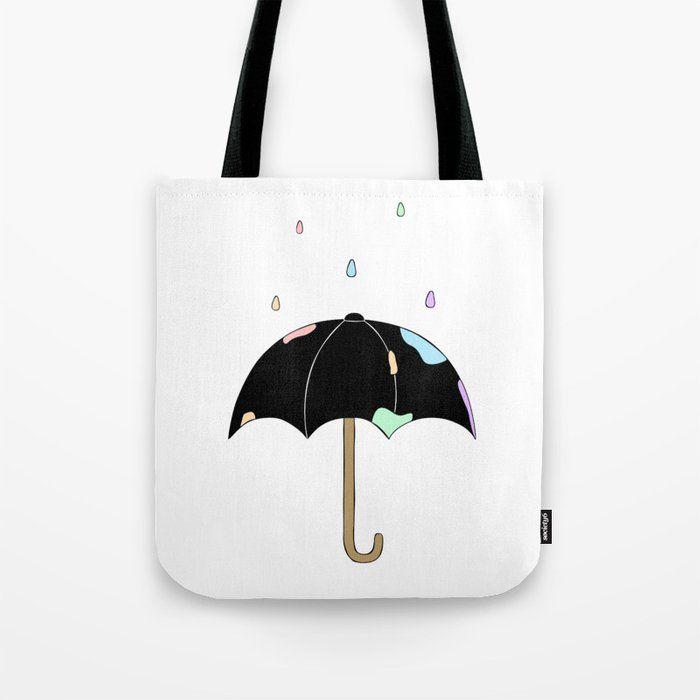 Pastel Rain tote bag grunge pastel kawaii goth emo punk tumblr aesthetic streetw…