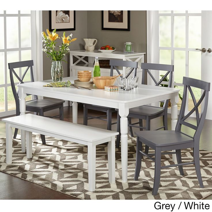 Best 25 dining set with bench ideas on pinterest dining for Small white dining table set