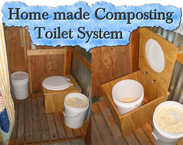 Home made Composting Toilet System  This is something I sure hope I never have to use!