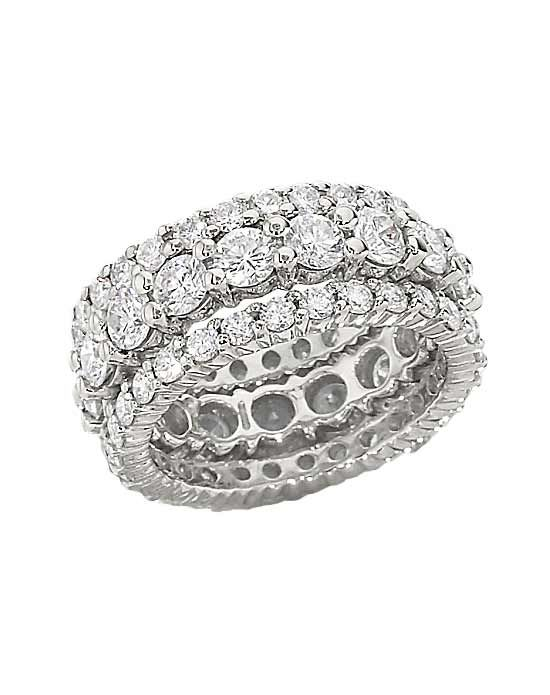 Stackable diamond rings from Lieberfarb