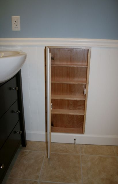 Hiddenpanel Cabinet Use Wainscoting Or Beadboard To Hide