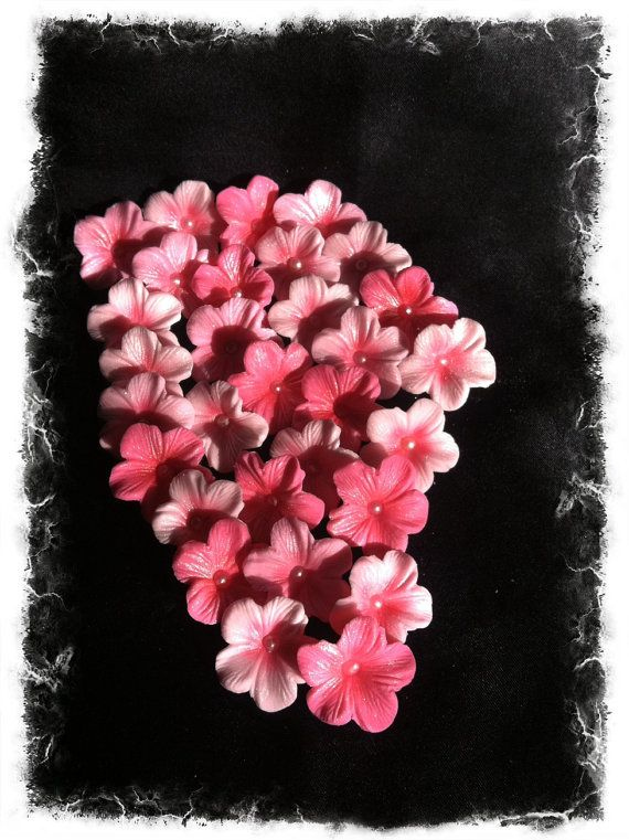 Cake Decorations Different Shades of Pink Cherry Blossoms ~ by SweetEdibles, $10.00