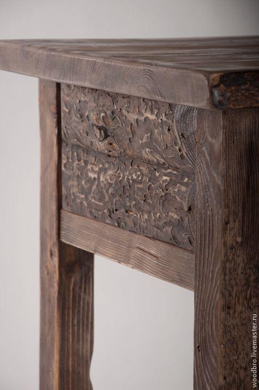 Купить Кофейный стол в винтажном стиле - стол из дерева, кофейный столик, состаренный стиль, старинный