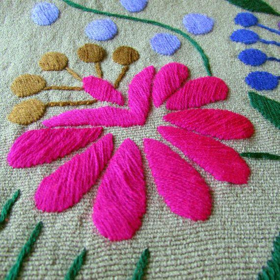 Gris corredor de la tabla lado mexicano de textiles realizados por ArteDeMiTierraMX
