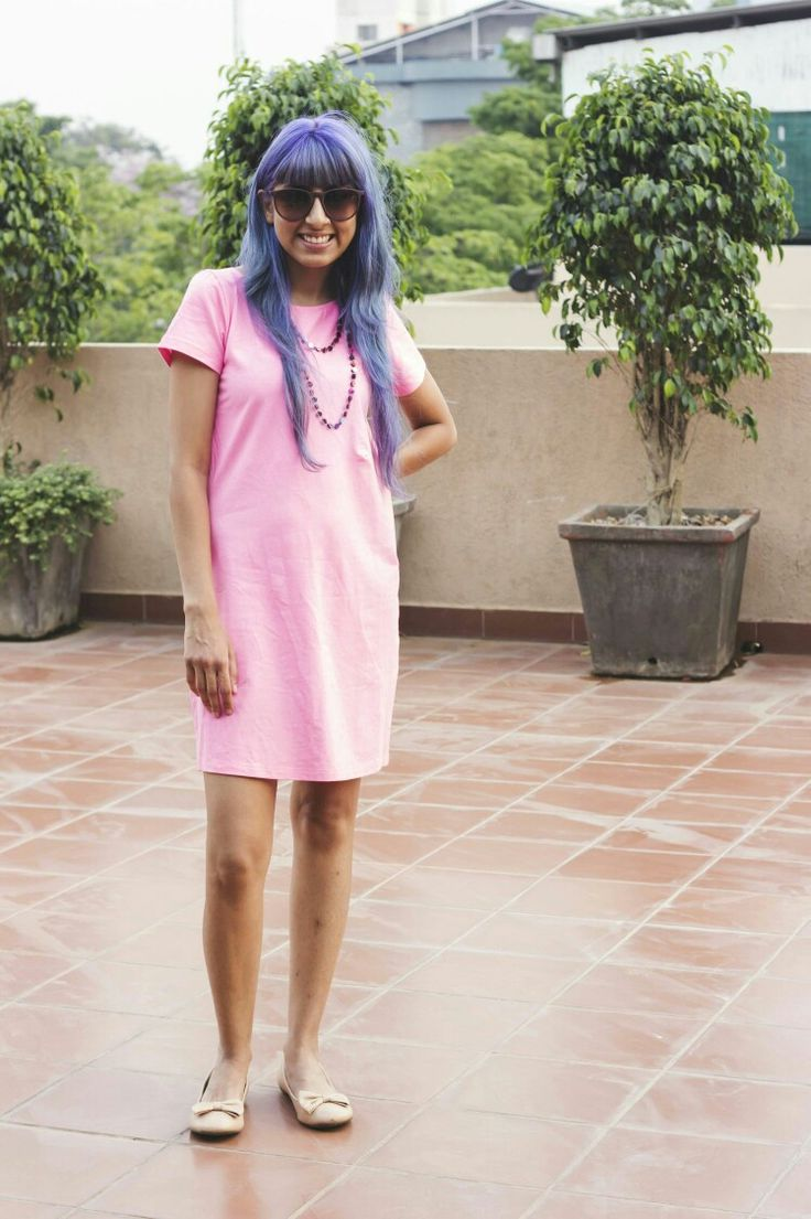 Pink T-shirt Dress at Done By None - summer is here :)