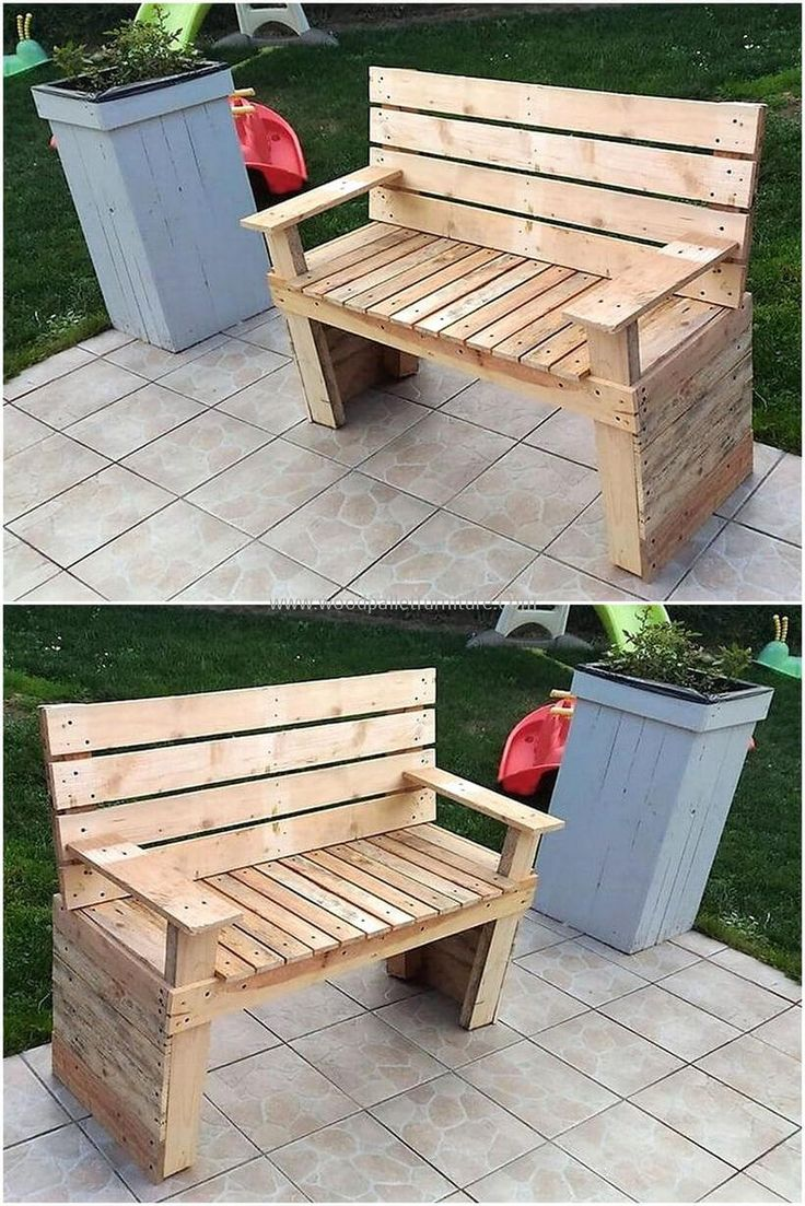 Give your garden perfect sitting plan so that you can have special sitting area at your yard. It is easy to craft, you can craft this easily your own. Take wood pallets then cut them into different required dimension. Join them with the help of nails and glue gun in planed shape. Enjoy sitting in this bench at your garden.