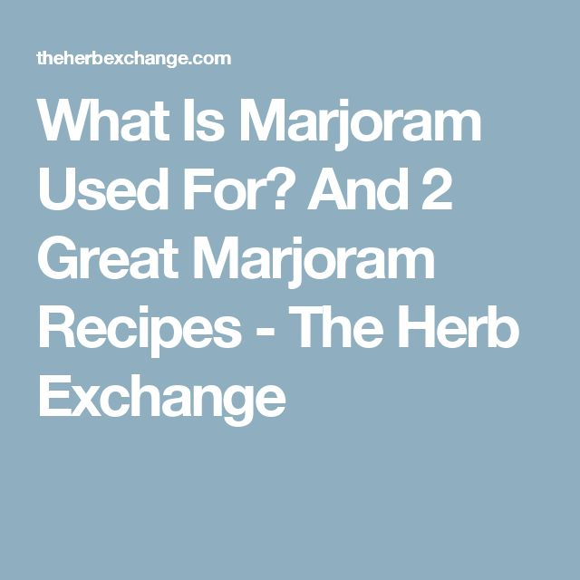 What Is Marjoram Used For? And 2 Great Marjoram Recipes - The Herb Exchange