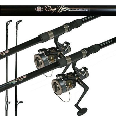 Hunter #fishing setup 12ft 2 #piece carp rod #2.75lb &  baitrunner reel + line x ,  View more on the LINK: 	http://www.zeppy.io/product/gb/2/191857967186/
