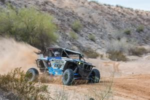 Polaris teammates Mitch Guthrie Jr. and Branden Sims battled at the front of the pack for most of the 5-hour race. Sims commented that he felt like he was running the race as a short-course race as he fought to stay out front during the first lap.