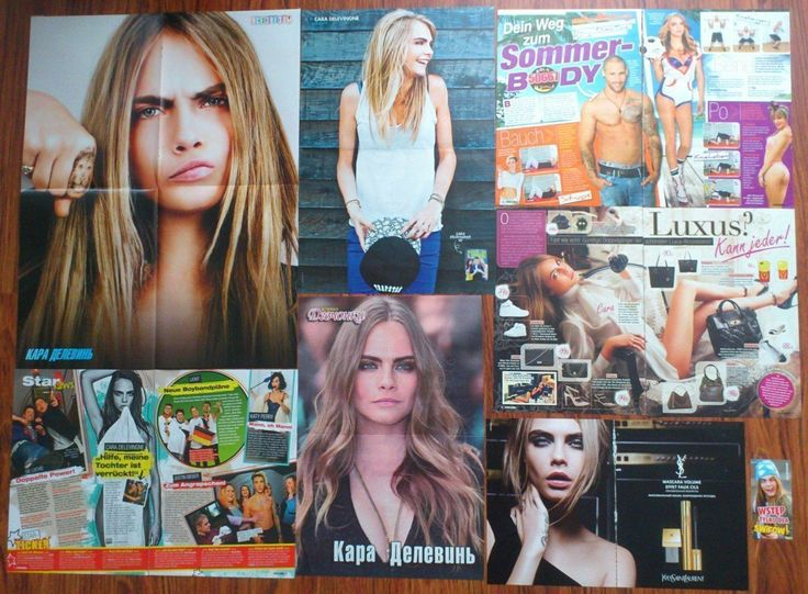CARA DELEVINGNE - Posters Articles Clippings Lot Collection | eBay