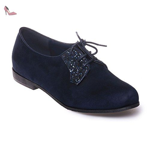 La Modeuse - Derbies en simili daim avec détail pailleté sur l'avant - Chaussures la modeuse (*Partner-Link)