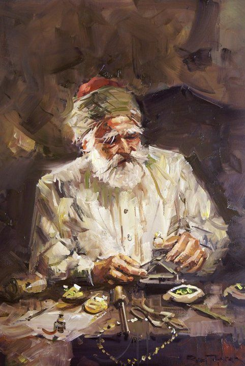 Turkish painter Ramzi Taskiran (Remzi Taşkıran) was born in Adiyaman in 1961. He Completed his high school and art education in Istanbul. He is a prominent Turkish artist. His artworks are influenced by domestic environment and charming landscape in Istanbul. His portraits of beautiful oriental women in the folk costumes and ornaments that shine gold, are very charming.