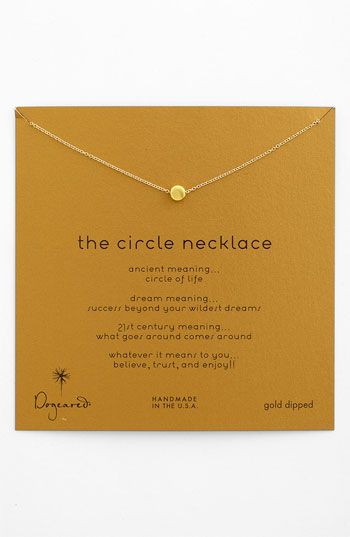 Dogeared 'Reminder - The Circle' Pendant Necklace available at #Nordstrom