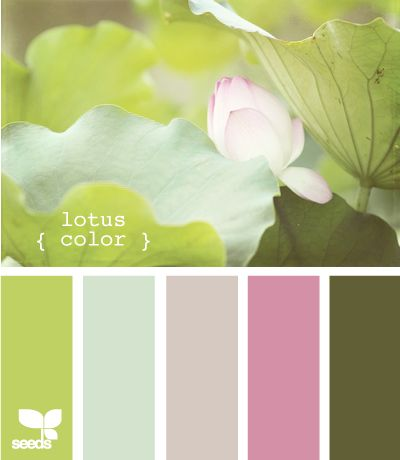 In love with this color palette for my baby girl's nursery...go zen with a femme touch
