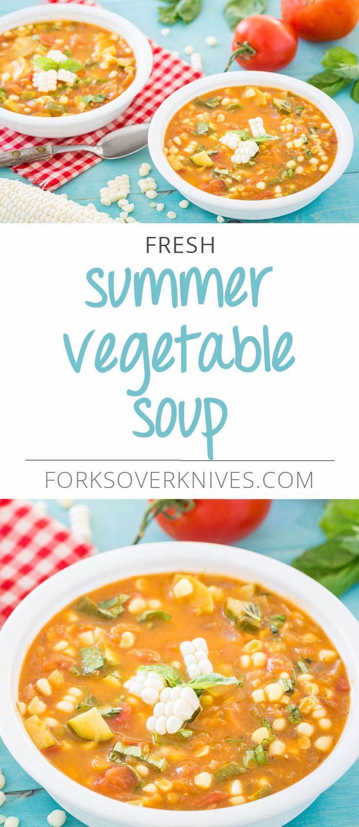 During the summer months, all of the vegetables in this soup can (and should!) be found fresh. Tomatoes, squash, and corn will be at their peak, and their fresh flavors will really shine through in this dish. FromForks Over Knives—The...  Read more
