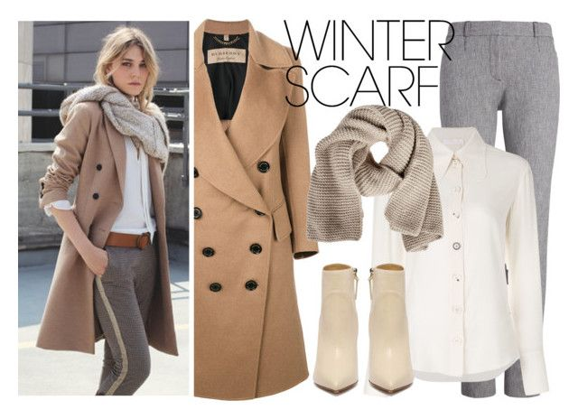 """""""Winter Scarf #3"""" by vtiguila ❤ liked on Polyvore featuring Burberry, Chloé, FABIANA FILIPPI and winterscarf"""