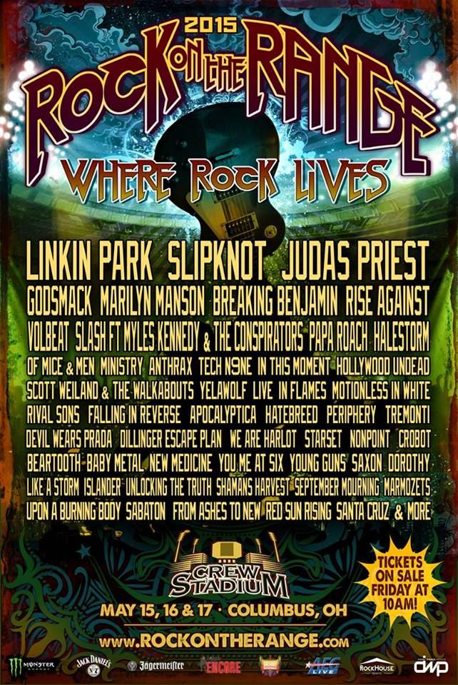 Rock on the Range 2015...can't wait. Perfect anniversary present