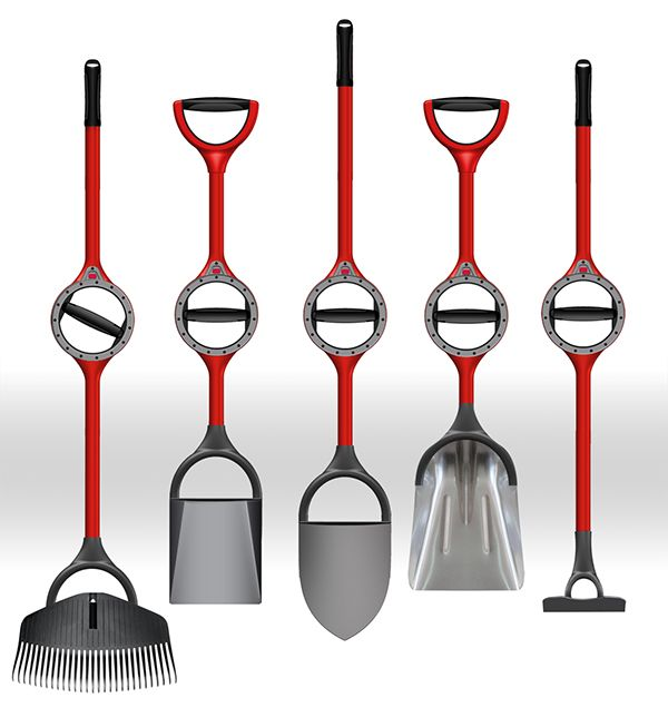 Ergonomical garden tools, that helps to minimize muscle strain. #garden #tools #YankoDesign