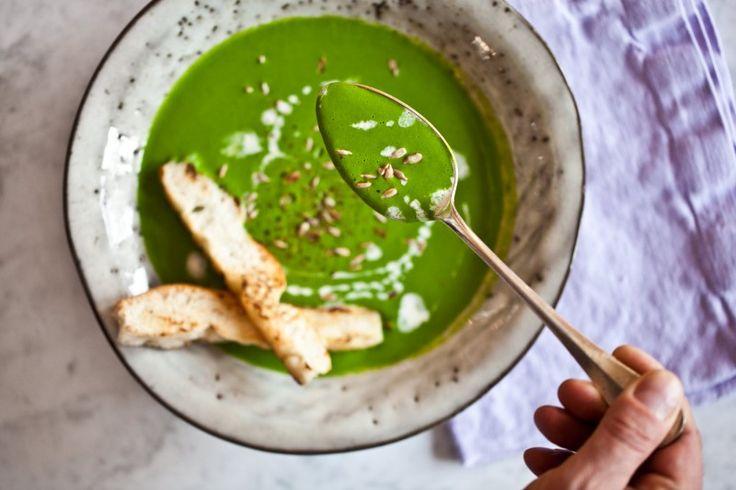Špenátovo-cuketová polévka plná vitamínů