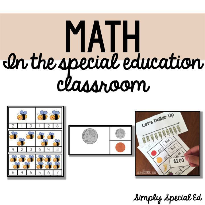 Math Resources In The Special Education Classroom