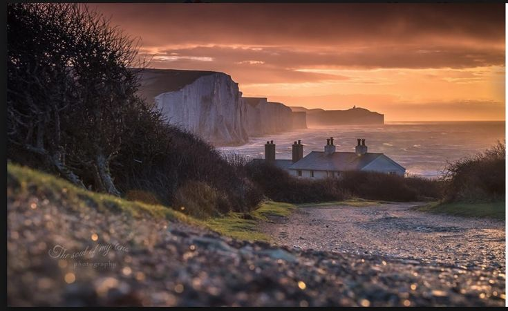The Seven Sisters and Coastguard Cottages at Cuckmere Haven at sunrise by Zoltan Kecskes The soul of my lens Photography