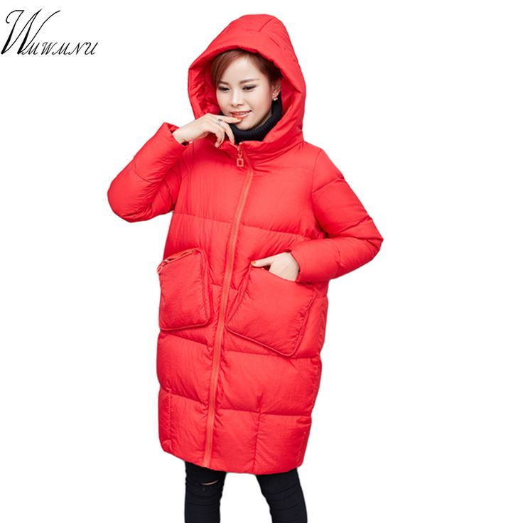 ==> [Free Shipping] Buy Best Wmwmnu brand winter jacket women 2017 new arrival high quality cheap winter long coat and black solid color womens winter parkas Online with LOWEST Price | 32823779370