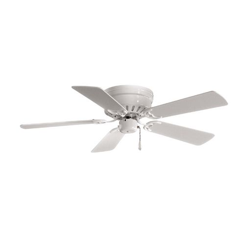 Ceiling Fan Without Light in White Finish | F566-WH | Destination Lighting