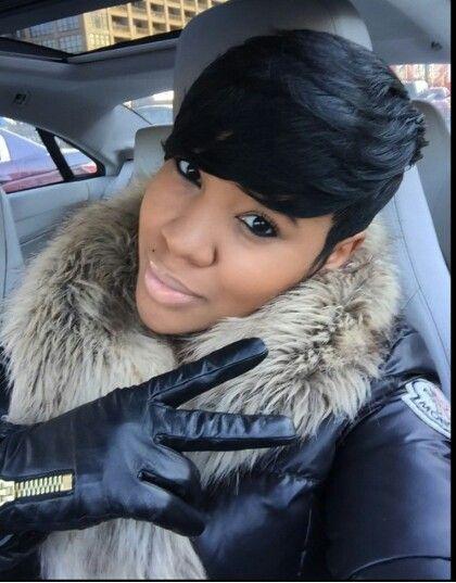 Pixie haircut for black women
