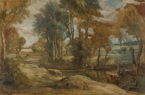 Peter Paul Rubens: 'A Wagon fording a Stream' 1625-40, National Gallery of Art, London
