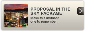 Picture of the Proposal In The Sky Package home page with a photo of the LV Strip at night on the left-hand side