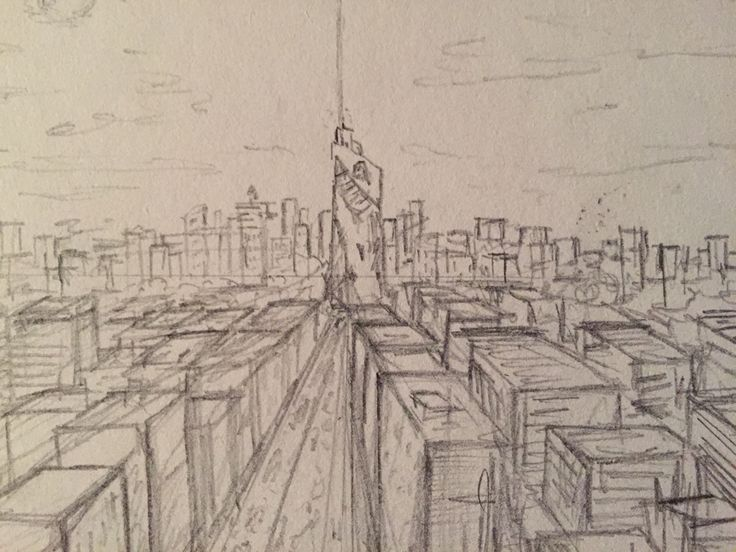 One Point Perspective Of The Avengers Tower Itu0026#39;s Just A Sketch So The Detail Wonu0026#39;t Be Amazing ...