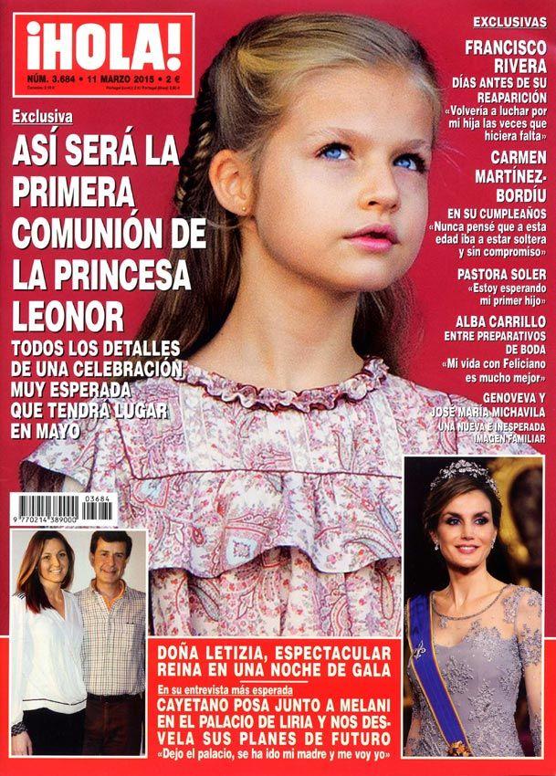 ¡HOLA! desvela en exclusiva cómo será la Primera Comunión de la princesa Leonor #hola #magazine