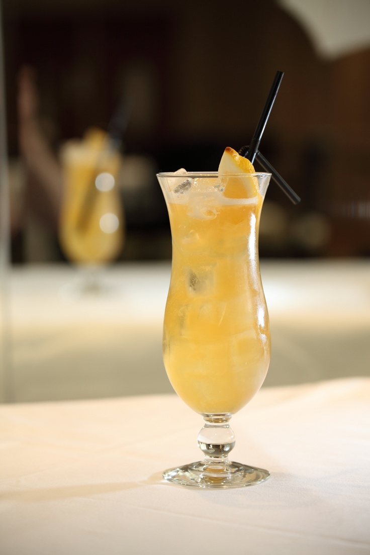 Isle of Jura superstition single malt whisky, Earl Grey tea, fig and peach liqueurs are shaken well and served long over ice in the North Bridge Brasserie Highland Iced Tea.