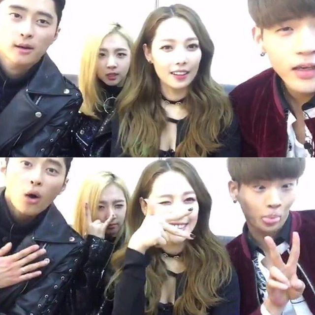 J.Seph, Jiwoo, Somin and BM   K.A.R.D