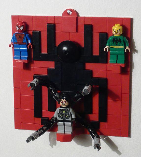 LEGO Spider - Man (6873) Figure Display on the Wall 16X16 by Brucewaynelego-Toyshansolo, via Flickr