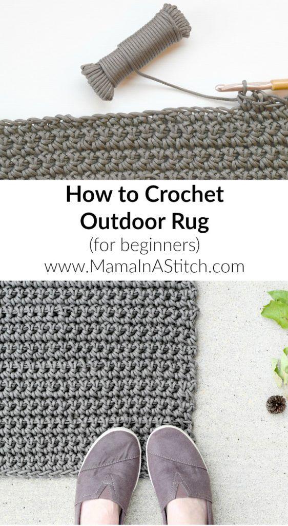 Tapete como crochet padrão livre