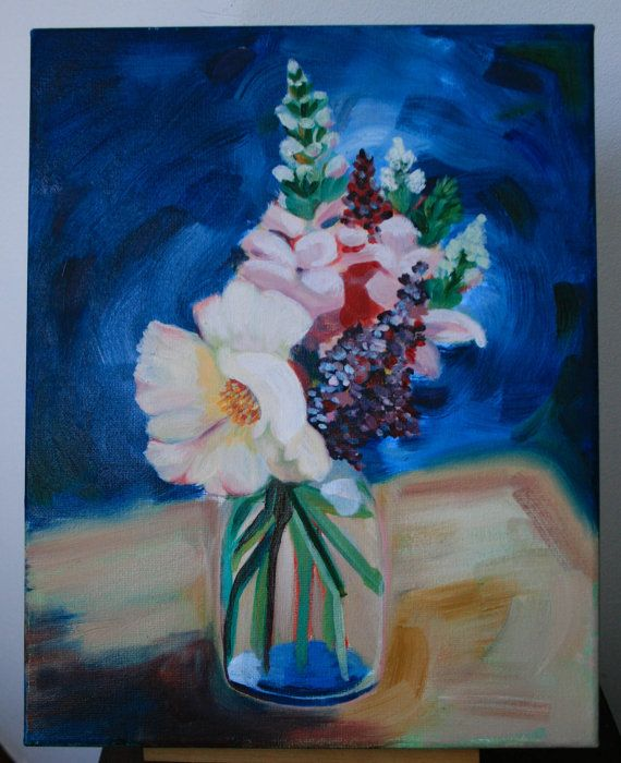 an original oil painting. Still life. Flowers by LikaHorn on Etsy