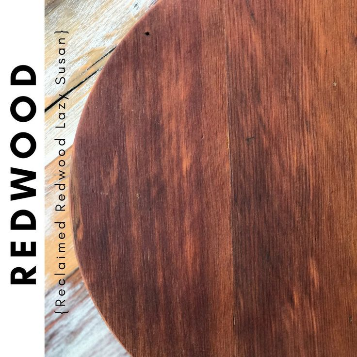 """New Item - 14"""" Reclaimed Red Wood Lazy Susan   Constructed from hard to find reclaimed redwood lumber. Gorgeous natural color and grain of the redwood make this a perfect piece.                     ~~~Follow Us On Instagram~~~~"""