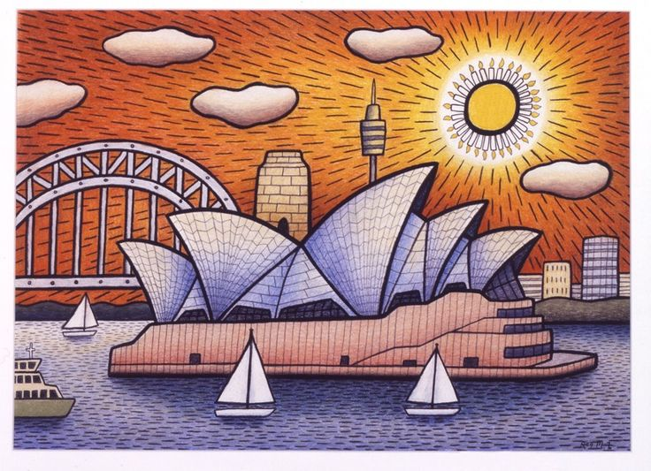 Opera House Birthday Boat by Reg Mombassa