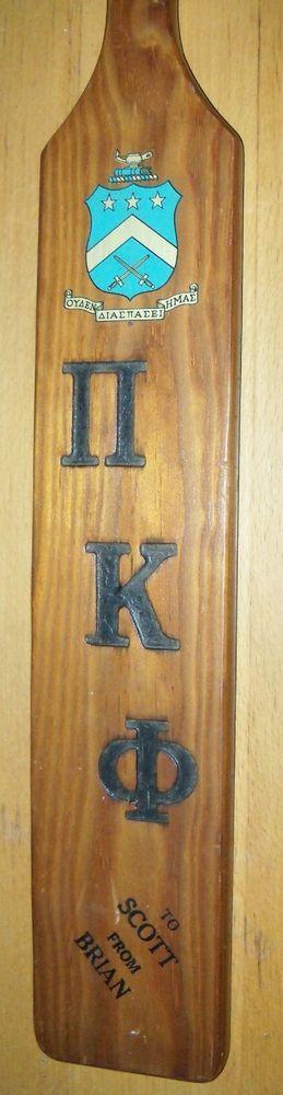Vintage Wooden Spanking Paddle KU FRATERNITY Kansas University Scott Brian Names