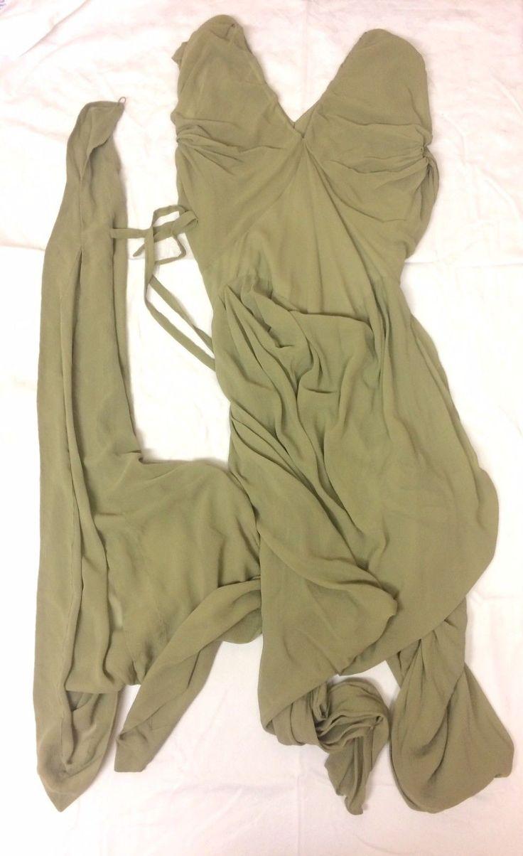 Vivienne Westwood Gold Label Giselle Cocotte Dress. Sage Green. UK 14 US 10.