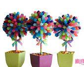 Arc-en-ciel Candi pièce maîtresse arbre topiaire, Candy Buffet décor, Candy Arrangement mariage, Mitsvah partie Favor, Art comestible