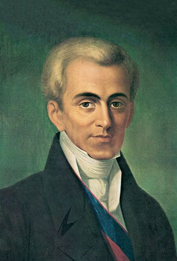 Count Ioannis Antonios Kapodistrias ( 1776 –  1831) was a #Greek Foreign Minister of the Russian Empire and one of the most distinguished politicians and diplomats of #Europe. After a long career in European politics and diplomacy he was elected as the first head of state of independent #Greece. In the course of his assignment as Foreign Minister of Russia, Kapodistrias' ideas came to represent a progressive alternative to Metternich's aims of Austrian domination of European affairs.