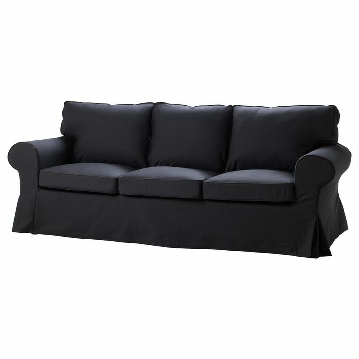 ikea ektorp sofa idemo black single seat slipcover. Black Bedroom Furniture Sets. Home Design Ideas