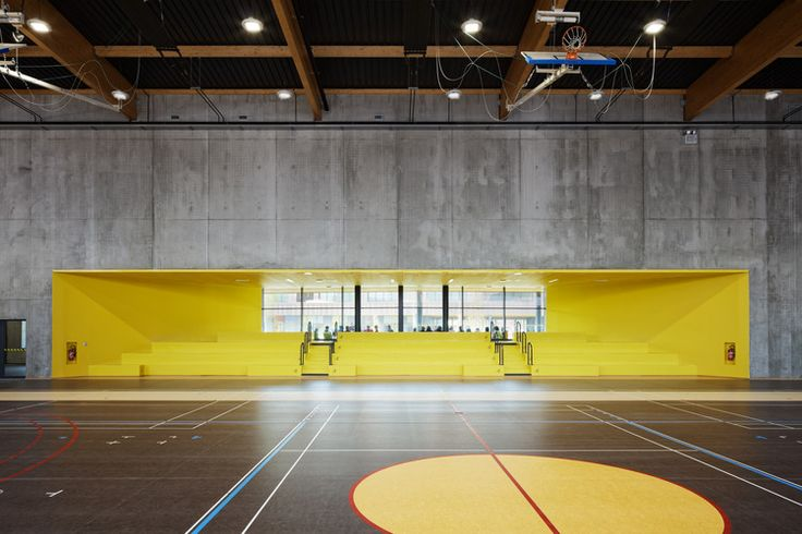 Secondary School, Sport Hall and Cultural Center  / Chartier Dalix Architectes | ArchDaily