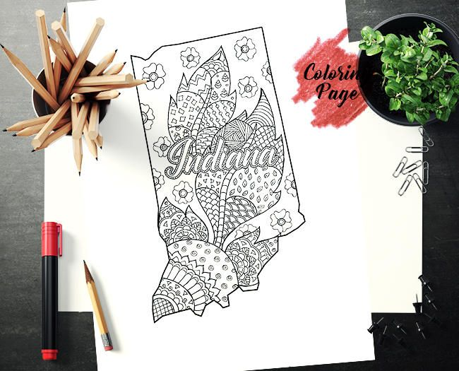 Coloring Pages United States : Best united state coloring pages images mandala