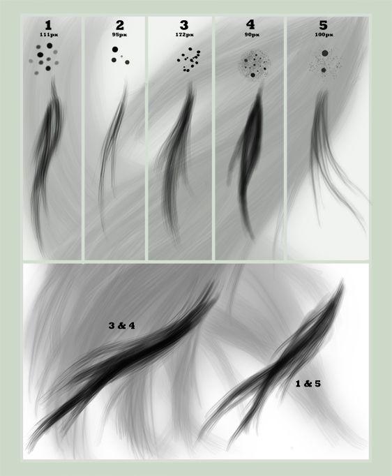 Hair Brush Set for GIMP by jesuslover488448.deviantart.com on @deviantART